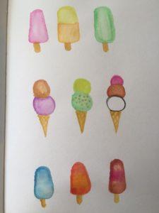 ice cream and popsicles